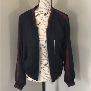 Abs satin bomber